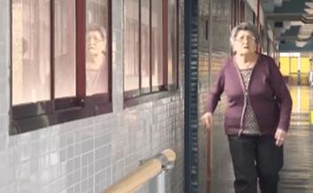 Mujer frágil en el proyecto Sprintt