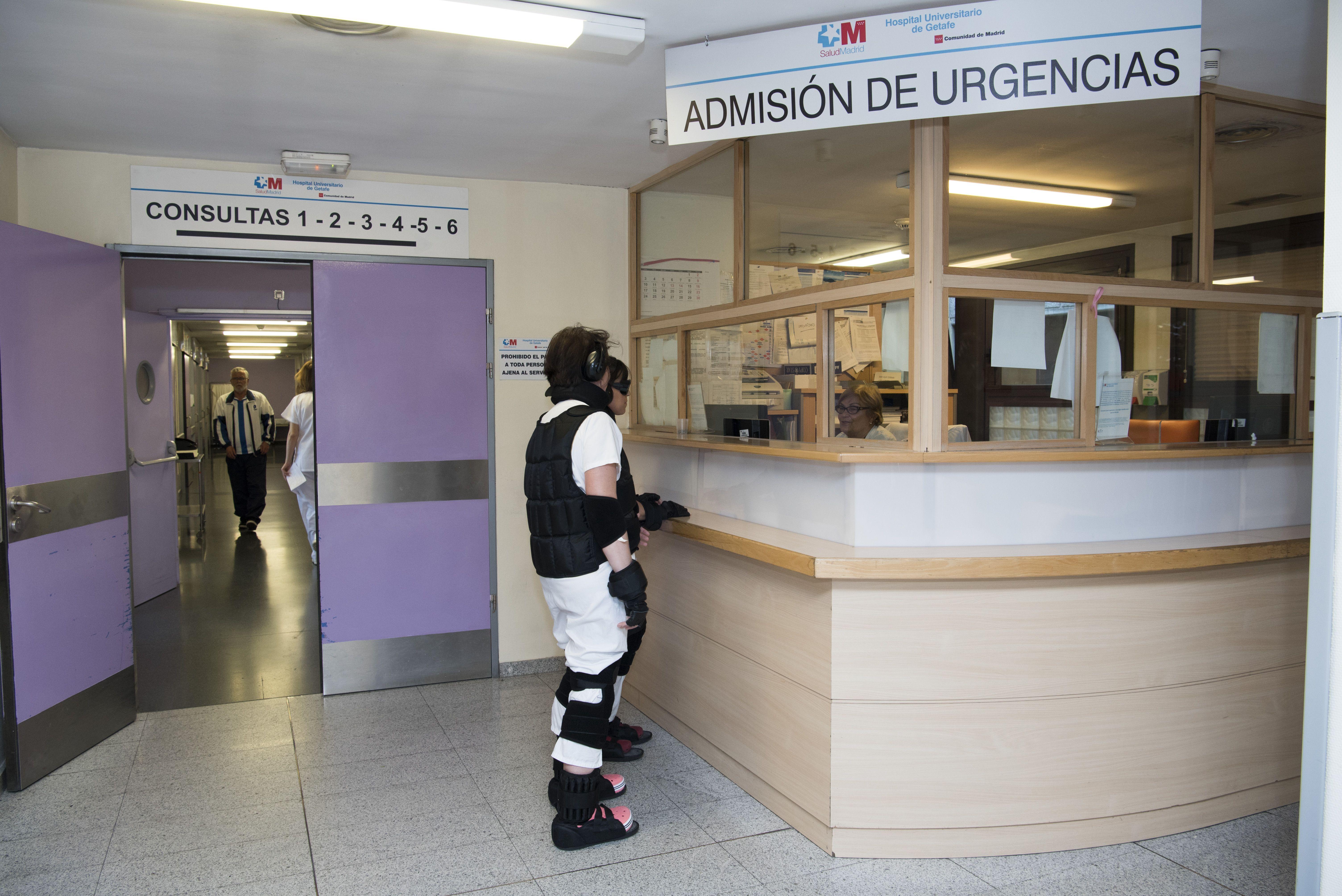 Traje simulador en el servicio de urgencias