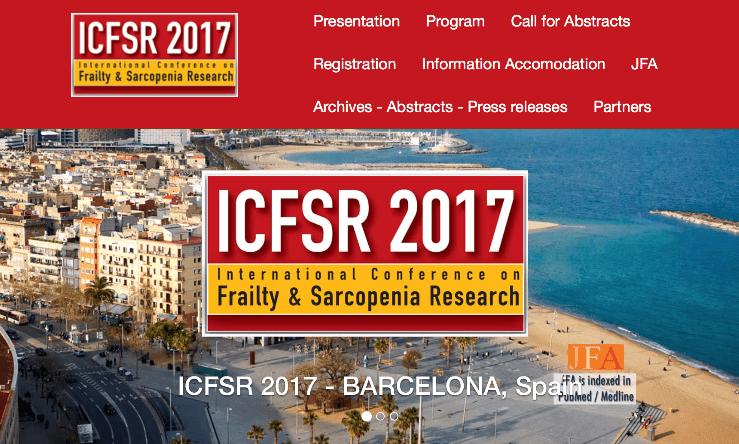 Conferencia Internacional sobre la investigación en fragilidad y sarcopenia (ICFSR 2017)